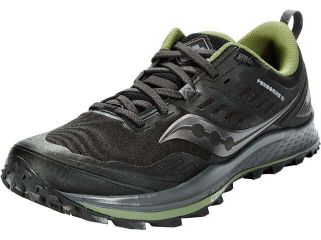 saucony Peregrine 10 GTX Shoes Men, black/pine